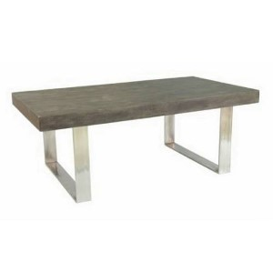 Concrete Grey Rectangular Cocktail Table