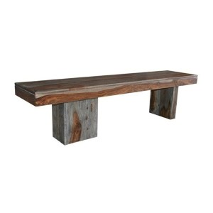 Sheesham Wash Brown Wooden Bench