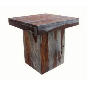 Sheesham Wash Brown End Table