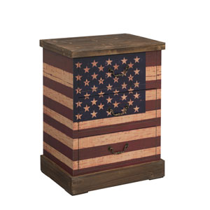 Old Glory Rustic Three Drawer Chest