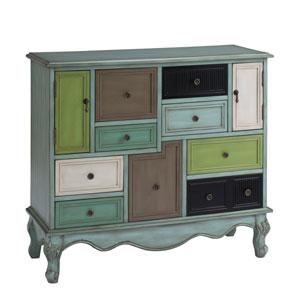 Leslie Multicolor Nine Drawer Two Door Cabinet