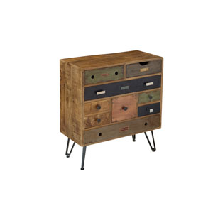 Multicolor Mango Nine Drawer Chest