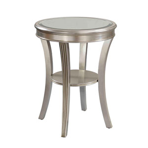 Antique Silver Accent Table