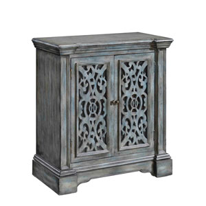 Grey Two Door Cabinet