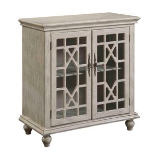 Ivory Two Door Cabinet