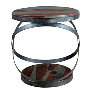 Sheesham and Iron Accent Table
