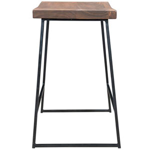 Acacia and Iron Counter Height Barstool - 2 Pack