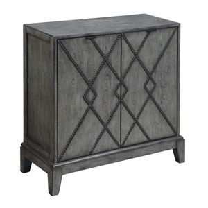Burnished Grey Two Door Cabinet