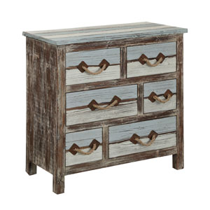Multicolor Six Drawer Chest