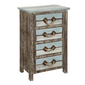 Multicolor Four Drawer Chest