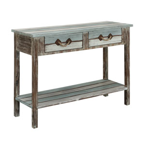 Multicolor Two Drawer Console Table