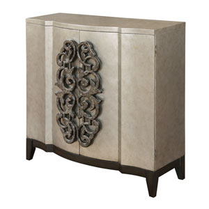 Metallic Two Door Cabinet