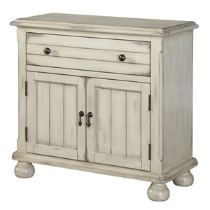 Distressed Sand Two Door One Drawer Cabinet