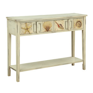 Distressed Sand Two Drawer Console Table