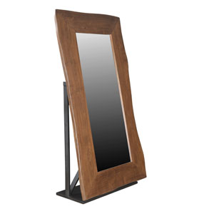 Brown and Black Large Floor Mirror