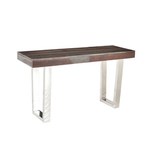 Graywash Stainless Steel  Base Grayson Console Table
