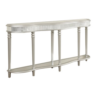 Silver and Mirrored Console Table