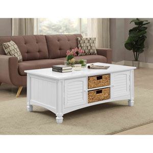 Harbor Towne Cocktail Table, White