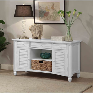Harbor Towne Console Table, White