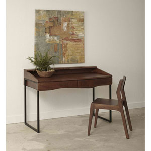 Two Drawer Writing Desk, Sandia Brown