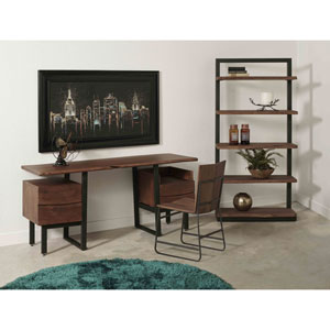 Two Drawer Writing Desk, Sequoia Brown