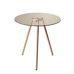 Gibson Copper Powder Coated Metal Accent Table