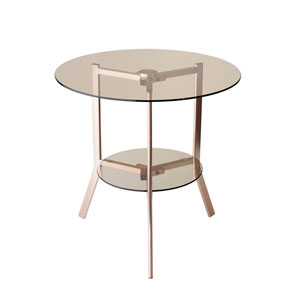 Gibson Copper Powder Coated Metal End Table