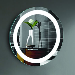 Ilana 24-Inch Round LED Lighted Wall Mirror by Civis USA