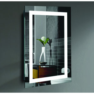 Malisa 20 x 24-Inch LED Lighted Wall Mirror by Civis USA