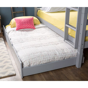 Solid Wood Twin Trundle Bed Only (bunk beds sold separately) - Grey