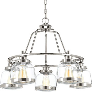 P400058-104: Judson Polished Nickel Five-Light Chandelier