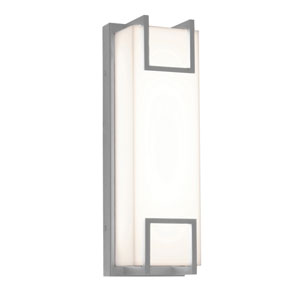 Beaumont Textured Grey 15-Inch 120/277V LED Outdoor Wall Sconce