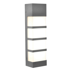 State Textured Grey 17-Inch 120/277V LED Outdoor Wall Sconce