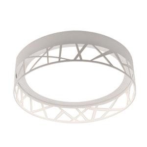 Boon White 12-Inch LED Flush Mount