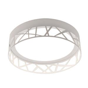 Boon White 16-Inch LED Flush Mount