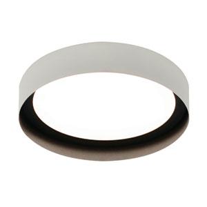Reveal White and Black 12-Inch LED Flush Mount