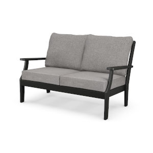 Braxton Black and Grey Mist Deep Seating Settee