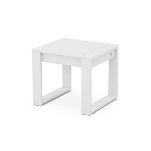 Edge White End Table