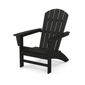 Nautical Black Adirondack Chair