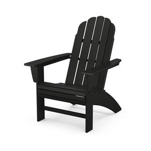 Vineyard Black Curveback Adirondack Chair