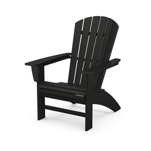 Nautical Black Curveback Adirondack Chair