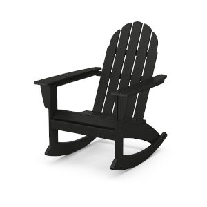 Vineyard Black Adirondack Rocking Chair