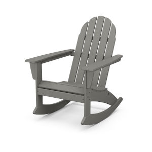 Vineyard Slate Grey Adirondack Rocking Chair