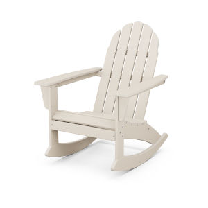 Vineyard Sand Adirondack Rocking Chair