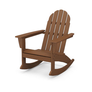 Vineyard Teak Adirondack Rocking Chair