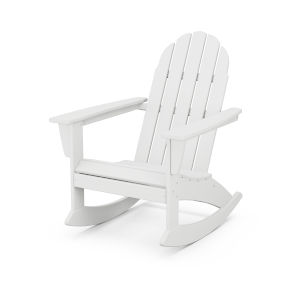 Vineyard White Adirondack Rocking Chair