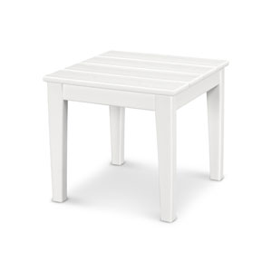 Newport White 18-Inch End Table