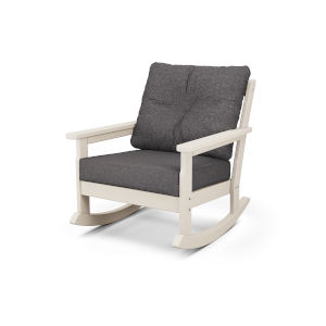 Vineyard Sand and Ash Charcoal Deep Seating Rocking Chair