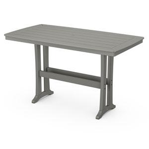 Nautical Trestle Slate Grey 38-Inch x 73-Inch Bar Table