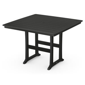 Nautical Trestle Black 59-Inch Bar Table
